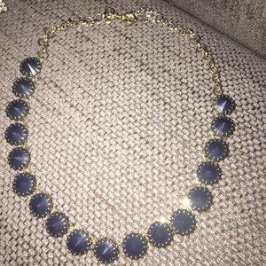 J. Crew Statement Necklace, Blue Stone